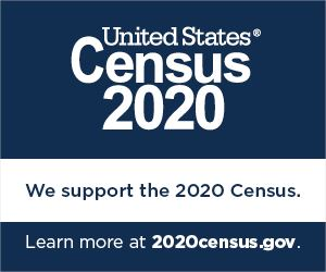 We support the 2020 Census. Learn more at 2020census.gov.